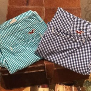 Hollister flat front shorts - 2 pair !